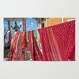 Wash day at Hindu temple, Mauritius Rug