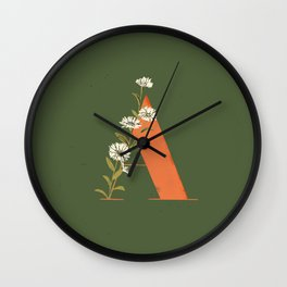 A for Aster Wall Clock