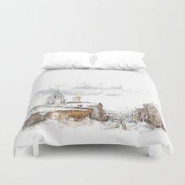 Russian landscape Duvet Cover