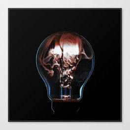 Burning Bulb - Tesla Canvas Print