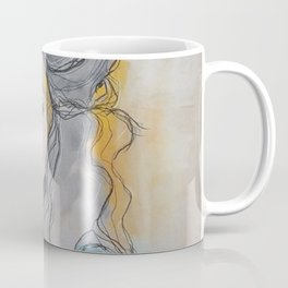 Original Mixed Media Illustration by Jenny Manno Coffee Mug