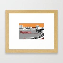 Pripyat City Square Framed Art Print
