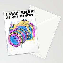I May Snap At Any Moment Funny Camera Photographer Photography Photo Studio Stationery Cards