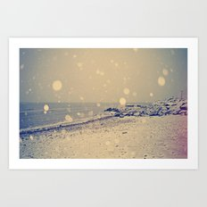 Snowy Beach II Art Print