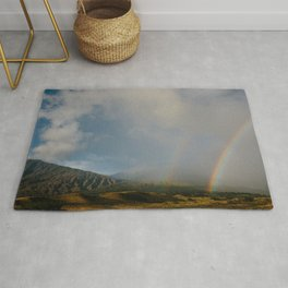 Double Rainbow on the Side Less Traveled Rug