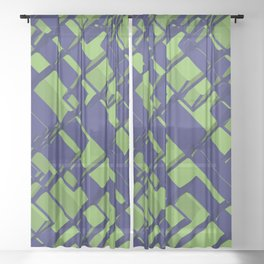 3D Abstract Futuristic Background III Sheer Curtain