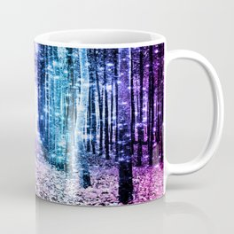 Magical Forest : Aqua Periwinkle Purple Pink Ombre Sparkle Coffee Mug