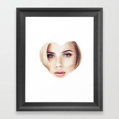 I Heart Scarlett Framed Art Print