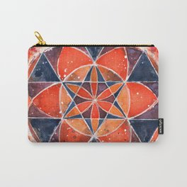 Twelve Around One Universe Galaxy Geometric Watercolor Painting Carry-All Pouch