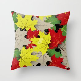 Maple Pattern Throw Pillow