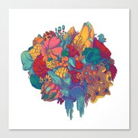 flora Canvas Prints featuring Flora by Ori Toor