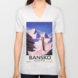 Bansko Bulgaria To Ski Unisex V-Neck