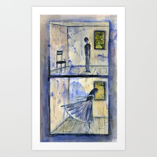 they were very lonely and had never met Art Print