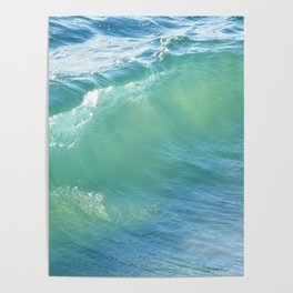 Teal Surf Poster
