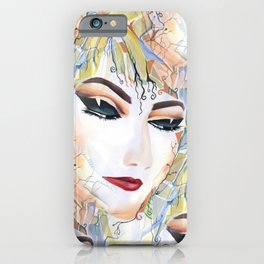 Elegant Fashionable Chic Sensual Female in Pop Surrealism Style iPhone Case