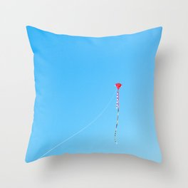 Red Kite In Blue Sky Throw Pillow