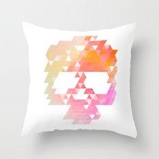 Skull Pink Throw Pillow