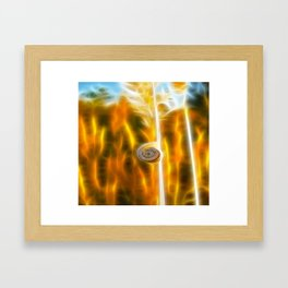 ▲►burning field◄▲ Framed Art Print