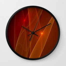 Lights Are Shining, Abstract Fractal Art Wall Clock