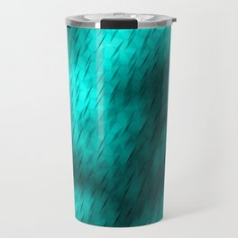 Line texture of light blue oblique dashes with a bright intersection on a luminous charcoal. Travel Mug