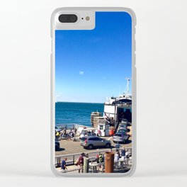 Ferry from Nantucket to Martha's Vineyard Clear iPhone Case