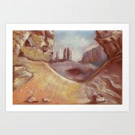 Desert landscape by pastel Art Print
