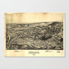 Aerial View of Moosic, Pennsylvania 1892 Canvas Print