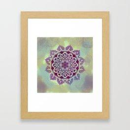 Hipnotic Mandala Design Framed Art Print