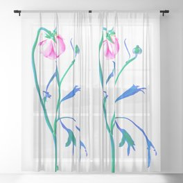 One Flower - Study 3. Back Sheer Curtain