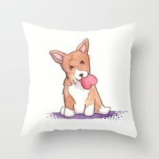 Corgi Love Throw Pillow