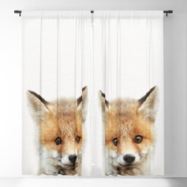 Baby Fox, Baby Animals Art Print By Synplus Blackout Curtain