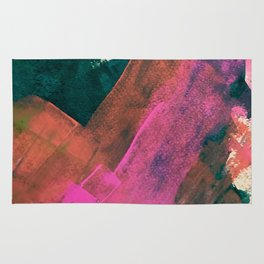 Expand [2]: a colorful, minimal abstract piece in pinks, green, and blue Rug