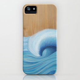 Wooden Wave Scape iPhone Case