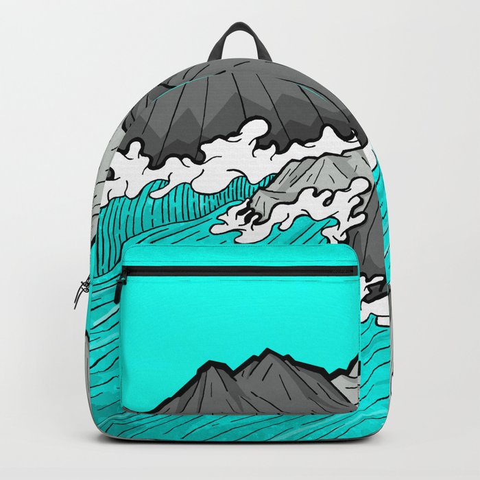 The Rocks And The Sea Backpack