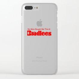 Bradlees Clear iPhone Case