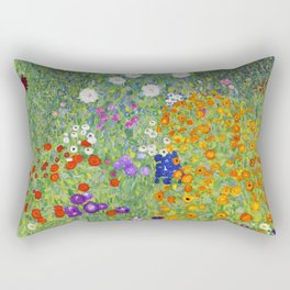 Flower Garden - Gustav Klimt Rectangular Pillow