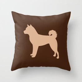 Shiba Inu (Tan/Chocolate) Throw Pillow