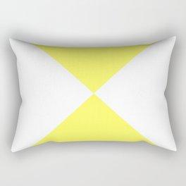 Four Triangles (White & Yellow Pattern) Rectangular Pillow
