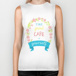 Take Good Care Biker Tank