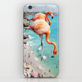 Flamingos on the Beach #society6 #decor #buyart iPhone Skin