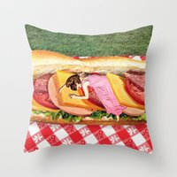 OUT TO LUNCH Throw Pillow