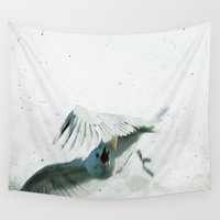 wings Wall Tapestries featuring Wings by Bella Blue Photography