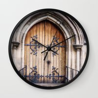 doors Wall Clocks featuring Doors by JMcCool