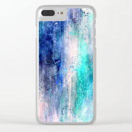 Winter Abstract Acrylic Textured Painting Clear iPhone Case