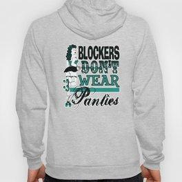 Blockers Don't Wear Panties in Teal, Roller Derby Hoody