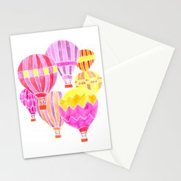 The places you'll go in a Pink Hot Air Balloon Stationery Cards