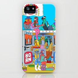 Hippie bus iPhone Case