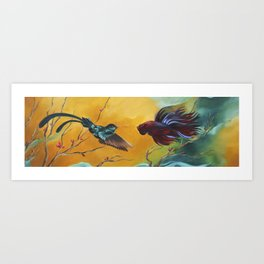 The Fighters Art Print