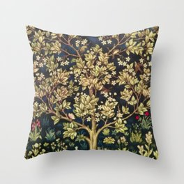 William Morris Tree Of Life Throw Pillow
