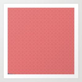 Pink Salmon (Saumon) Tres Petit Geometric Pattern Art Print